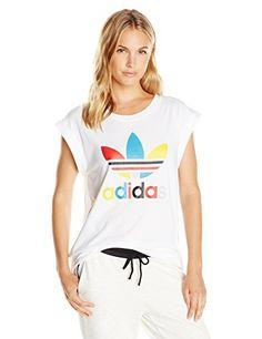 adidas Originals Women's Boyfriend Roll up Tee - http://www.darrenblogs.com/2016/08/adidas-originals-womens-boyfriend-roll-up-tee/