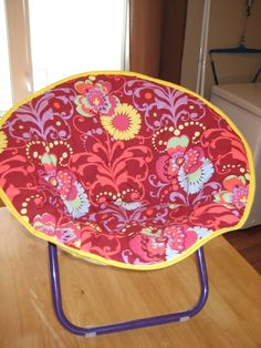 Laura Thoughts: Saucer Chair Re Cover | Found One Of These The Other Day