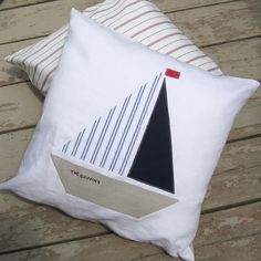 The Sailboat Pillow. by ChristineElliott on Etsy