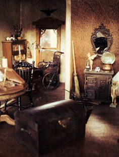 The Bloggess is building a haunted dollhouse. Go take a look and try not to drool.