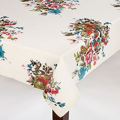 Watercolor Floral Tablecloth | World Market $34.99
