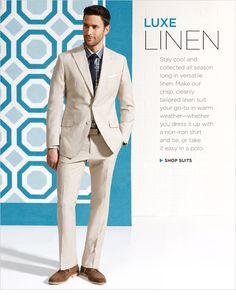 Banana Republic linen suit