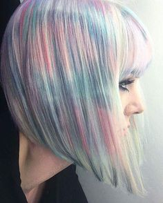 This holographic hair trend is what it would look like if fairies went to the beauty salon