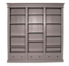 Grey Triple Bookcase
