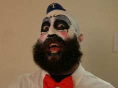 clown makeup with beard | posted: February 27 @ 12:12am