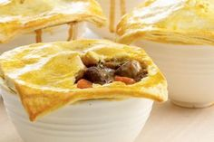 Curtis Stone's delicious and hearty pie is easy to make and even easier to enjoy. Steak And Mushroom Pie, Steak And Mushrooms, Stuffed Mushrooms, Pumpkin And Beetroot Salad, Fairy Bread, Condensed Milk Recipes, Beef Strips, One Pan Dinner, Roast Pumpkin