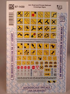 Microscale Decal HO  #87-228  Freight Car Grafitti and Haz Mat Placards
