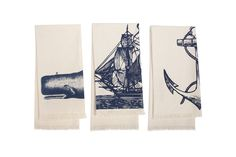 @Stephanie S. matching towels    Set of 3 Seafarer Hand Towels in Ink by Thomas Paul   BurkeDecor.com