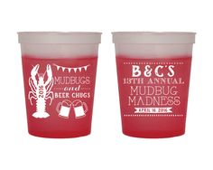 Crawfish Boil Cups Wedding Cups Couples Shower Cups Bridal Shower Cups Party Cups Wedding Favors Cups Crawfish Boil Fun Cups 1430 by SipHipHooray