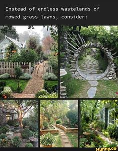 Instead of endless wastelands of mowed grass Lawns, consider: - iFunny :) Future House, Photo Trop Belle, Dream Garden, Home And Garden, Outdoor Spaces, Outdoor Living, 1000 Lifehacks, My Dream Home, Exterior Design