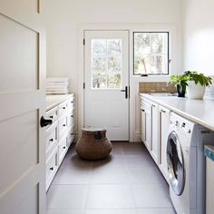 """581 Likes, 10 Comments - Home Beautiful (@homebeautiful) on Instagram: """"White on white is alright with us Photography: Armelle Habib #homebeautiful #laundry"""""""