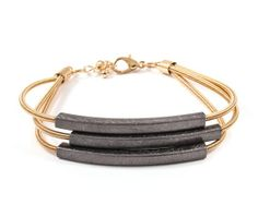 Mia Bracelet in Jet womens #fashion #jewelry 2014 womens jewelry 2014