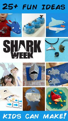 The Discovery Channel is celebrating a quarter century of Shark Weeks! This year, get the kids together and make some …