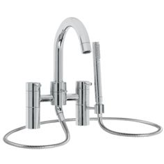FIRED EARTH Jura Taps & Mixers  Deck Mounted Bath and Shower Mixer    Finish  Chrome   Lever option  Lever     Size cm (h)  28.5    Price     Was £1,500.00    Now £1,275.00