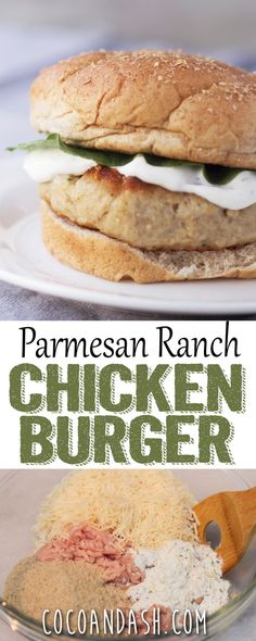 These PARMESAN RANCH CHICKEN BURGERS are the perfect alternative to a beef burger. They are low in fat full of flavor!!