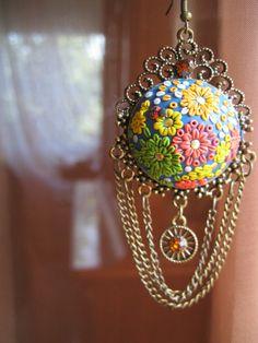 Earrings - polymer clay jewelry