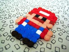 Mario perles à repasser Mario, Ideas, Hama Beads, Gaming, Children, Thoughts