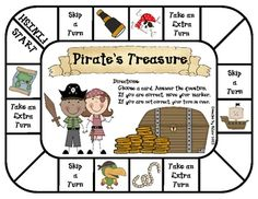 A fun way to practice map skills. In this Pirate theme game, students practice map skills. The social studies game can be used for stations/centers, partner games, or small group practice. This game was created by Kathy Law for first grade, second grade, or anyone who needs extra map practice.