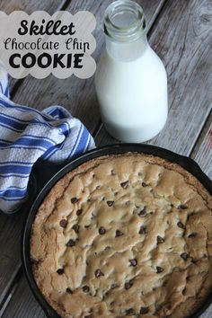 Skillet Chocolate Chip Cookie recipe from Maple Leaves & Sycamore Trees