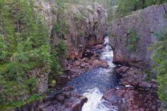 Waterfall Helvetesfallet, Orsa Sweden