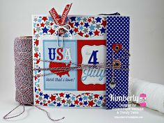 DT Kimberly @ Twine It Up! by Annie's Paper Boutique with a Patriotic Flipbook Album featuring the Stars & Stripes, Totally Red, Totally White, & Totally Navy Trendy Twine, Red Chevron Trendy Page Dot, Blue Grid Trendy Page Dots, Manila Paper Pocket, Metallic Silver Mini Envelope, White Parcel tag- Size #2, along with the At Home, Foodies,Check it Off, Hello Fall & the Feeling Happy! Planner Stamp sets,