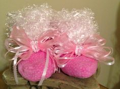Pink and White Polka Dots with White Minky by TutuBeautifulbyCiwi