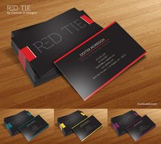 Free Business Card Template - Red Tie