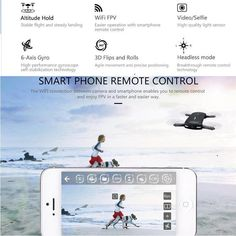 H37 Elfie RC Selfie Drone with Camera HD WIFI FPV Quadcopter