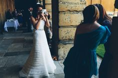 Image by Mister Phill - Elegant Contemporary Wedding At The Bodleian Library Queens College Oxford With Bride In Ulanova By Pronovias And Jimmy Choo Heels With Groom In Suit By Cad And The Dandy And Bridesmaids In Royal Blue