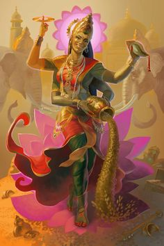 Lakshmi, Goddess of Beauty and Bounty, Most Generous Lotus Queen