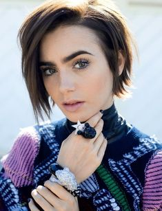 british girl hair lily collins pixie