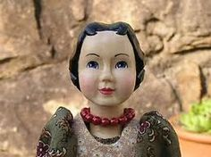 Hitty Hand Carved Wood Folk Art Doll