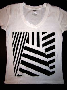 DIY Project: Dazzle Camouflage Stencil T-Shirt » Spin Off Stuff ...