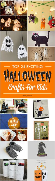 Are you in search of fun & easy ideas to keep your kid busy? How about Halloween crafts for kids? Here is a collection of 24 Halloween craft ideas for kids.