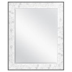 Mercury Row Haak Modern & Contemporary Chevron Bathroom/Vanity Mirror Size: x Chevron Bathroom, Chevron Tile, Bathroom Red, Bathrooms, Basement Bathroom, Small Bathroom, Silver Wall Mirror, Round Wall Mirror, Floor Mirror