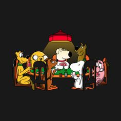 DOGS PLAYING POKER T-Shirt - Pop Culture T-Shirt is $11 today at Ript!