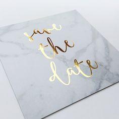 "317 Likes, 83 Comments - Lauren Skorsis | Design Studio (@laurenskorsis) on Instagram: ""Custom designed marble save the date card printed on 700gsm paper with gold foiling | For all…"""