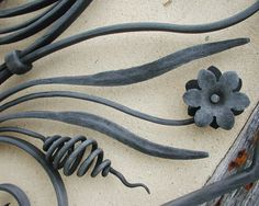 organic wrought iron fence detail  |  Artisan:  Michael Jacques Master Blacksmith  |  mejj.co.uk