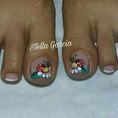 Cute Toe Nails, Cute Toes, Toe Nail Art, Fun Nails, Pedicure Designs, Toe Nail Designs, Mani Pedi, Manicure And Pedicure, Pedicures