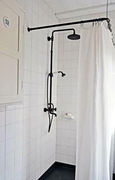 Black shower fixtures