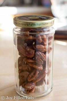 3 Ingredient Stovetop Glazed Pecans - Low Carb, Sugar Free, THM S