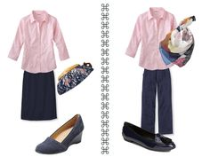 navy and pink Summer Wardrobe
