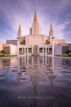 Oakland Temple Oh May My Soul Commune With Thee - A beautiful evening at the reflecting pool of the Oakland California Temple.