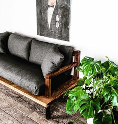 What's your dream color combo for wood & fabric on our Sofa? What pairing would look good in your place? | Sunday Sofa in Walnut and Coal (also available in Armchair size)