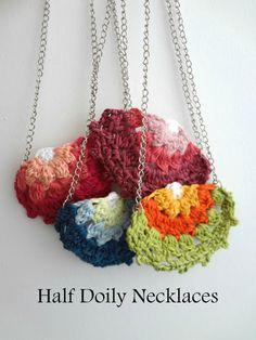 Half Doily Necklaces