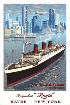 Affiche Compagnie Générale Transatlantique