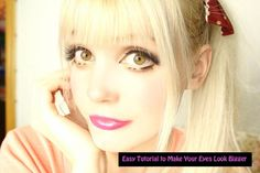 How to get big eyes