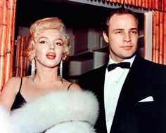 Marlon Brando and Marilyn Monroe together at the 1953 Golden Globe Awards