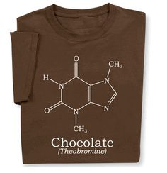 Get your fix wearing milk Chocolate Molecule Science Chemistry T-shirt. Perfect for your Valentine!