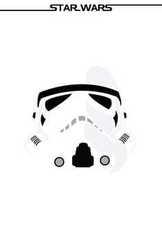 Minimalist posters of characters from the iconic film saga, Star Wars. /// by Ryan M. Russell /// Stormtrooper